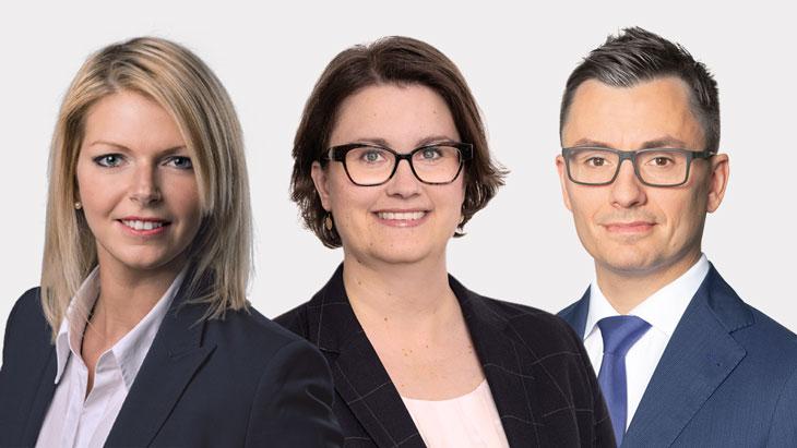 Nina Grochowitzki, Dr. Pia Lünstroth und David Voggeser